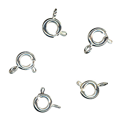 Buy John Lewis 6mm Bolt Rings, Pack of 10, Silver Plated Online at johnlewis.com