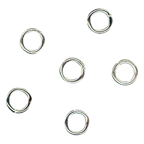 Buy John Lewis 5mm Jump Rings, Pack of 100, Silver Plated Online at johnlewis.com
