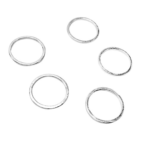 Buy John Lewis 12mm Round Whiz Rings, Pack of 50, Silver Plated Online at johnlewis.com