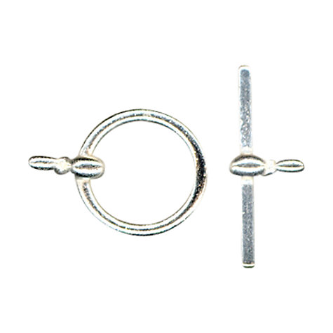 Buy John Lewis 12mm Toggle Clasp, Pack of 5, Silver Online at johnlewis.com