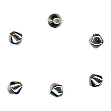 Buy John Lewis 4mm Metal Bicone Beads, Pack of 50, Silver Plated Online at johnlewis.com