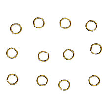 Buy John Lewis 5mm Jump Rings, Pack of 100, Antique Gold Online at johnlewis.com