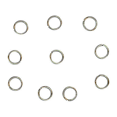 Buy John Lewis 5mm Jump Rings, Pack of 100, Antique Silver Online at johnlewis.com