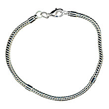 "Buy John Lewis Charm Bracelet, 7.5"", Silver Plated Online at johnlewis.com"
