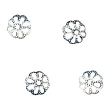 Buy John Lewis 8mm Filigree Bead Caps, Pack of 100, Silver Plated Online at johnlewis.com