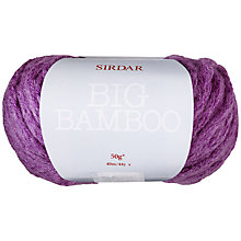 Buy Sirdar Big Bamboo Super Chunky Yarn, 50g Online at johnlewis.com