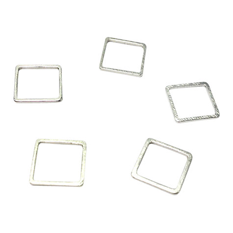 Buy John Lewis 10mm Square Whiz Links, Pack of 50, Silver Plated Online at johnlewis.com