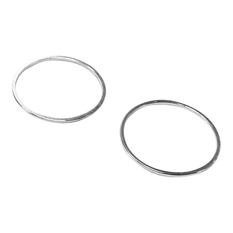 Buy John Lewis 20mm Round Whiz Rings, Pack of 20, Silver Plated Online at johnlewis.com