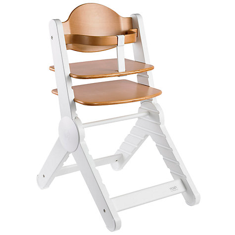 Buy BabaBing Noah Highchair, Natural/White Online at johnlewis.com