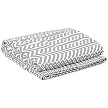 Buy John Lewis Arizona Cotton Throw, Steel Online at johnlewis.com