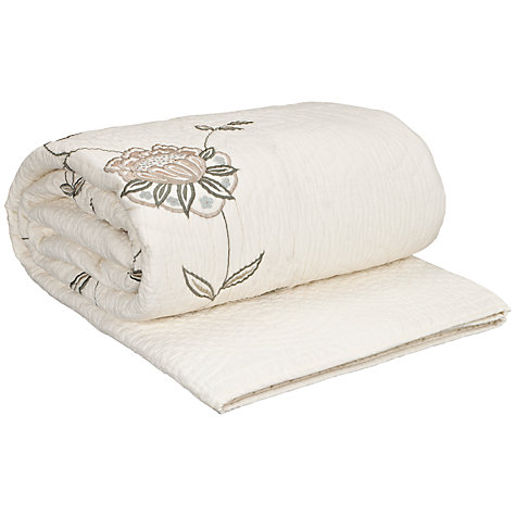 Buy John Lewis Clunni Cotton Quilt, Cream Online at johnlewis.com