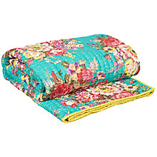 Buy John Lewis Isla Throw, Teal Online at johnlewis.com