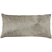Buy John Lewis Metallic Bark Cushion, Silver Online at johnlewis.com