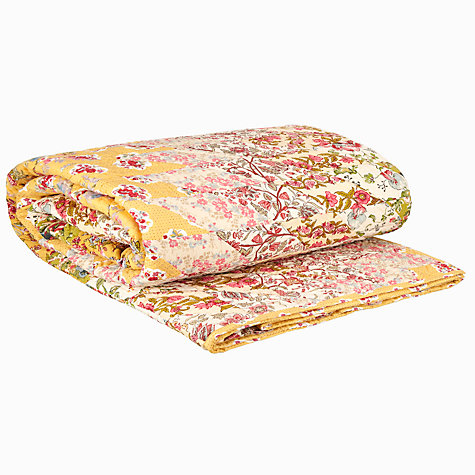 Buy John Lewis Starry Quilted Cotton Throw, Yellow Online at johnlewis.com