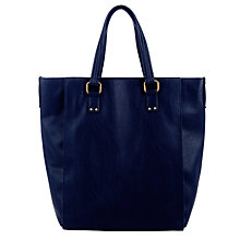 Buy COLLECTION by John Lewis Zip Top Tote Handbag, Navy Online at johnlewis.com