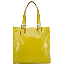 Buy John Lewis Patent Buckle Tote, Lime Online at johnlewis.com