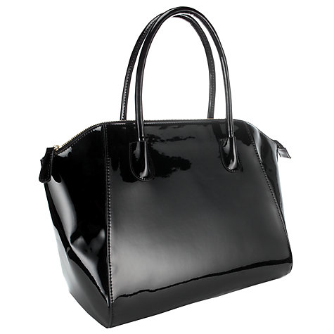 Buy COLLECTION by John Lewis Patent Tote Handbag, Black Online at johnlewis.com