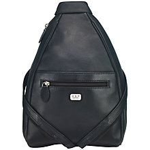 Buy O.S.P OSPREY Ayres Leather Backpack, Black Online at johnlewis.com