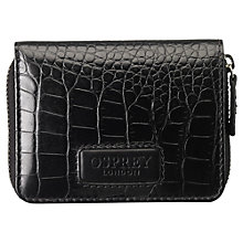 Buy OSPREY LONDON Small Gaumont Purse, Black Online at johnlewis.com