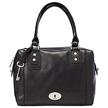 Buy Fossil Marlow Satchel, Black Online at johnlewis.com