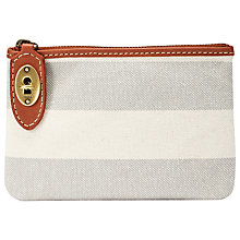 Buy Fossil Austin Zip Pouch Purse, Grey Stripe Online at johnlewis.com