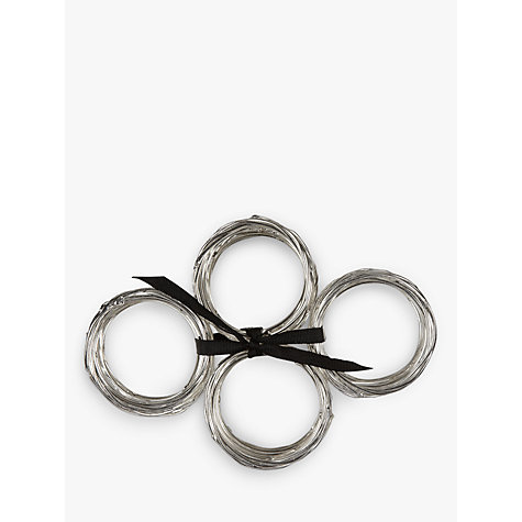 Buy John Lewis Nest Napkin Ring, Set of 4 Online at johnlewis.com