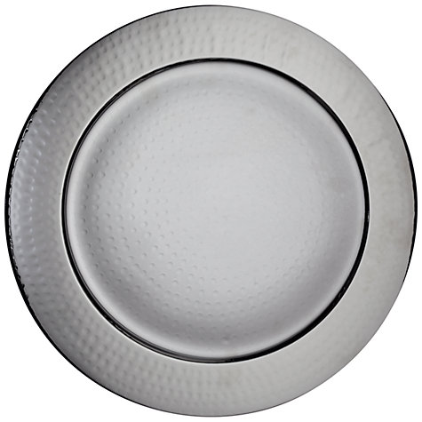 Buy John Lewis Round Hammered Metal Charger Online at johnlewis.com