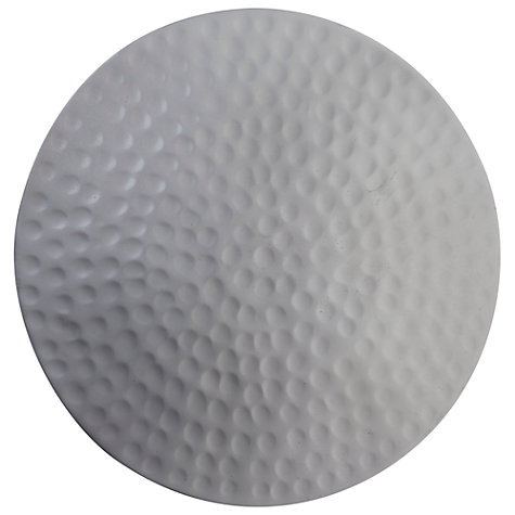 Buy John Lewis Round Hammered Metal Coaster, Set of 4 Online at johnlewis.com