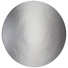 Buy John Lewis Round Hammered Metal Placemat Online at johnlewis.com