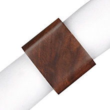 Buy John Lewis Square Wood Napkin Rings, Set of 4 Online at johnlewis.com