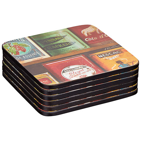Buy Pimpernel Tins Coasters, Set of 6 Online at johnlewis.com