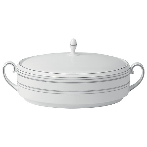 Buy Vera Wang for Wedgwood Radiante Covered Vegetable Dish, 39cm Online at johnlewis.com