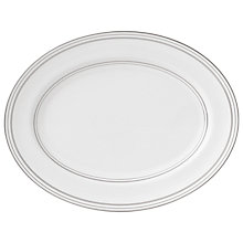 Buy Vera Wang for Wedgwood Radiante Oval Dish, 39cm Online at johnlewis.com