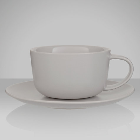 Buy House by John Lewis Stoneware Teacup and Saucer Online at johnlewis.com