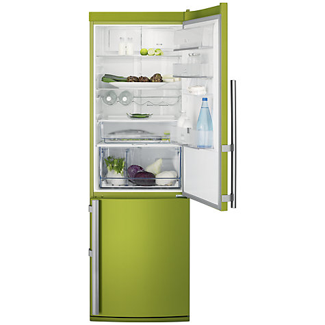 Buy Electrolux EN3487AOJ Fridge Freezer, A+ Energy Rating, 60cm Wide, Lime Green Online at johnlewis.com