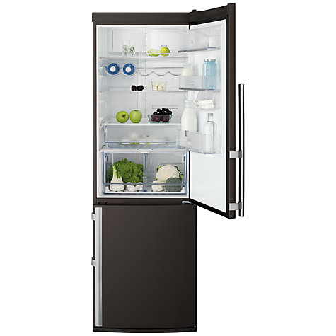 Buy Electrolux EN3487AOO Fridge Freezer, A+ Energy Rating, 60cm Wide, Chocolate Brown Online at johnlewis.com