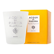 Buy Acqua di Parma Glass Candle Moss, 270g Online at johnlewis.com