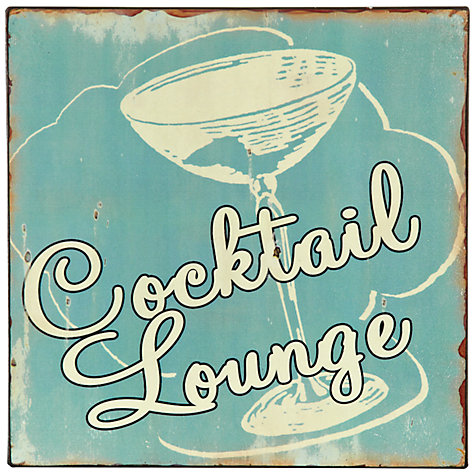 Buy John Lewis Cocktail Lounge Plaque, 24 x 24cm Online at johnlewis.com