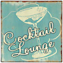 John Lewis Cocktail Lounge Plaque, 24 x 24cm