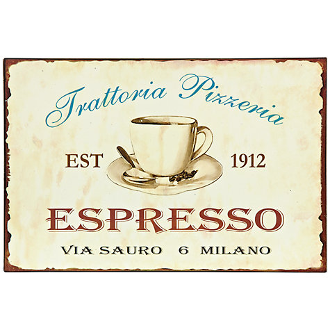 Buy John Lewis Espresso Plaque, 20 x 30.5cm Online at johnlewis.com