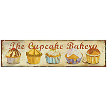 Buy John Lewis The Cupcake Bakery Plaque, 12 x 49.5cm Online at johnlewis.com