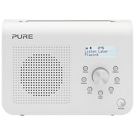 Buy Pure One Classic II DAB Digital Radio, White Online at johnlewis.com