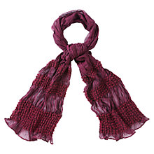 Buy Viyella Bobble Scarf, Cranberry Online at johnlewis.com