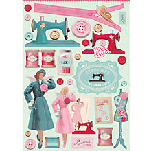 Buy Tilda Sewingbird Cut Out Sheets, Pack of 4, Turquoise/Pink Online at johnlewis.com