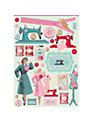 Tilda Sewingbird Cut Out Sheets, Pack of 4, Turquoise/Pink