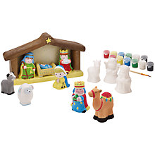 Buy John Lewis Paint Your Own Nativity Scene Kit Online at johnlewis.com