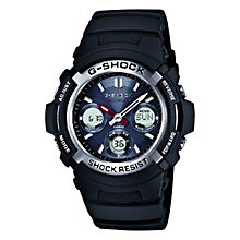 Buy Casio AWG-M100-1AER Men's G Shock Waveceptor Chronograph Plastic Strap Watch, Black Online at johnlewis.com