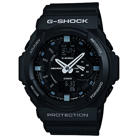 Buy Casio GA-150-1AER Men's G-Shock Digital Alarm Rubber Strap Watch, Black Online at johnlewis.com