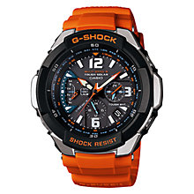Buy Casio GW-3000M-4AER Men's G-Shock Gravity Alarm Chronograph Watch, Orange Online at johnlewis.com
