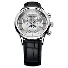 Buy Maurice Lacroix LC1148-SS001-131 Men's Les Classiques Chronograph Bracelet Watch, Black Online at johnlewis.com